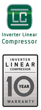 LG Linear Compressor: 10 year warranty