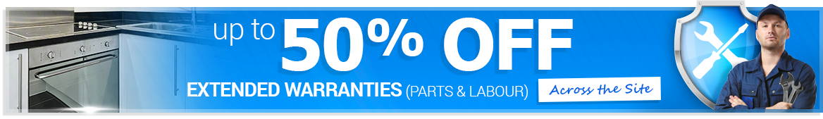 Up to 50% off extended warranties