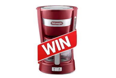 Win a DeLonghi Coffee maker