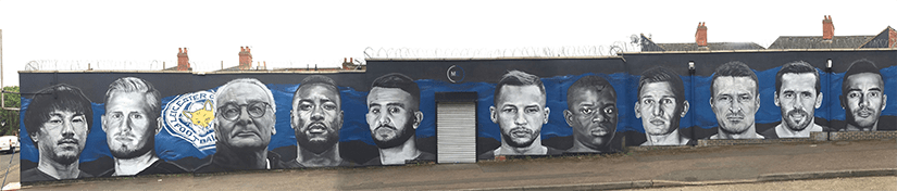 Leicester City Showroom Mural